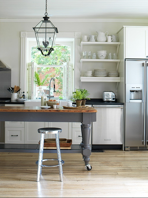 Cool No matter the reason when I first saw Margot Austin us farmhouse kitchen in the September issue of Style at Home I fell in love with her island