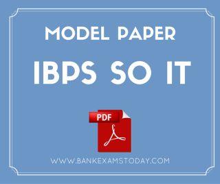 so it model paper