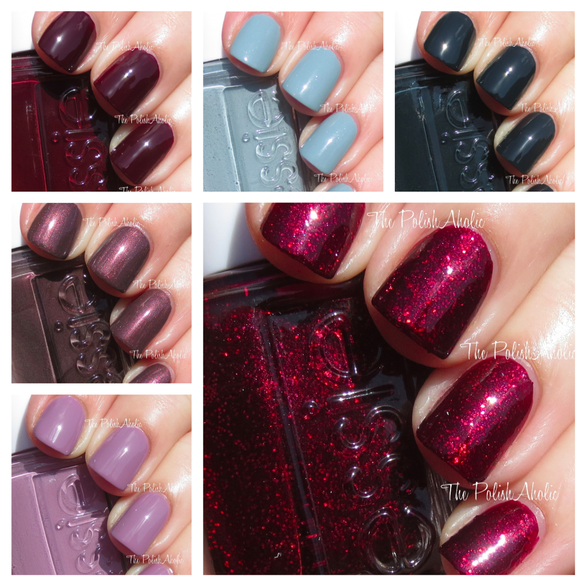 The PolishAholic: Essie Winter 2013 Collection Swatches & Review