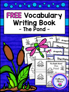The Pond Vocabulary Writing Book - Free
