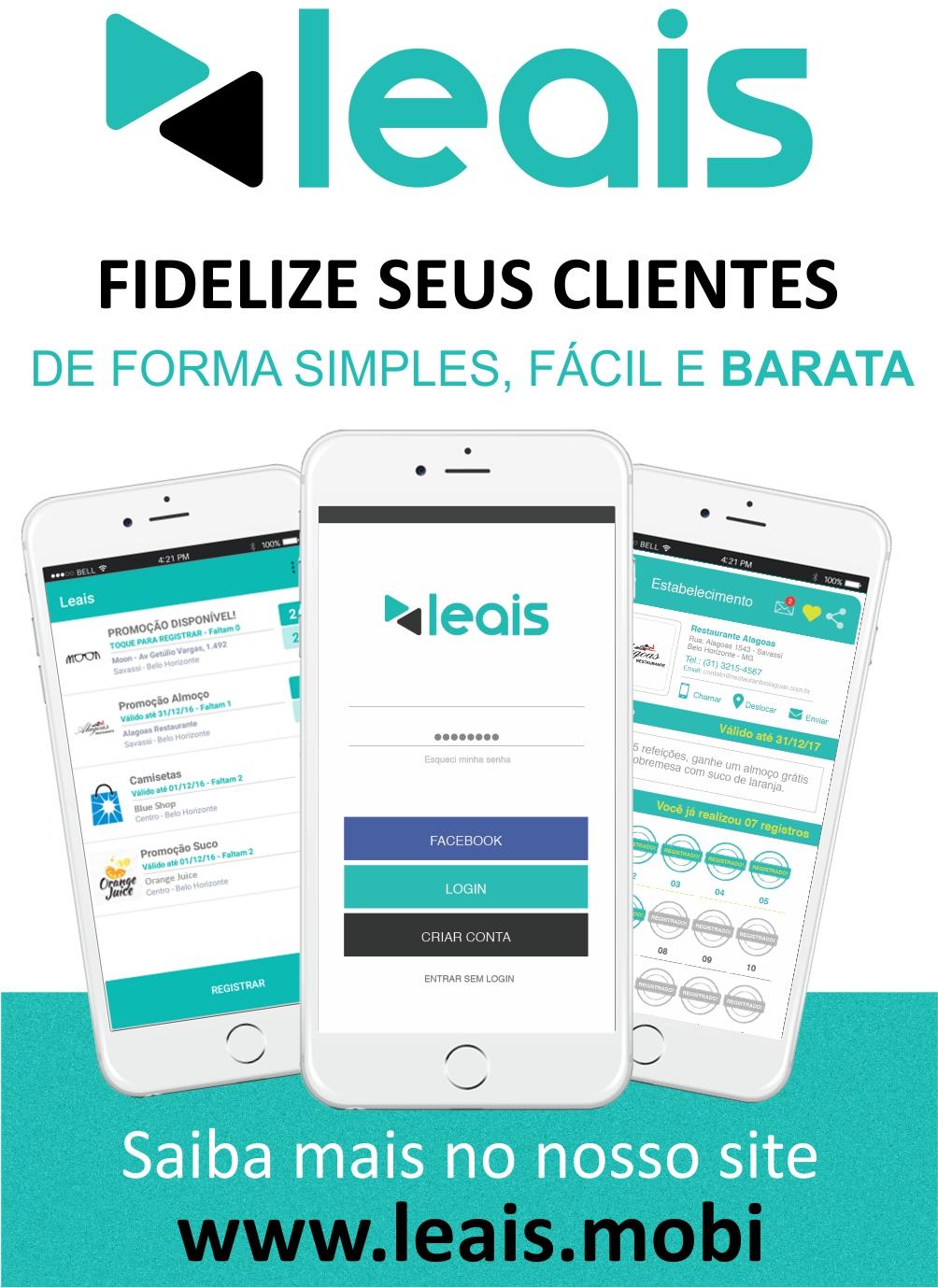 LEAIS - Seu aplicativo de fidelidade