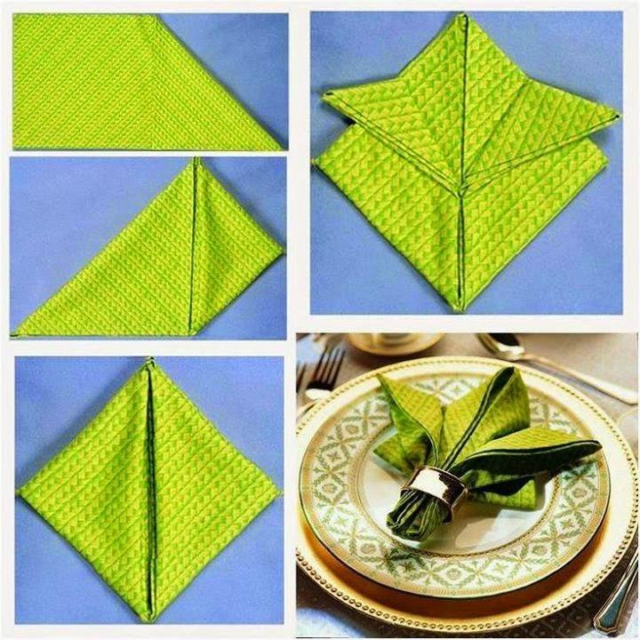 Napkin Folding Step By Step Diy Tutorial