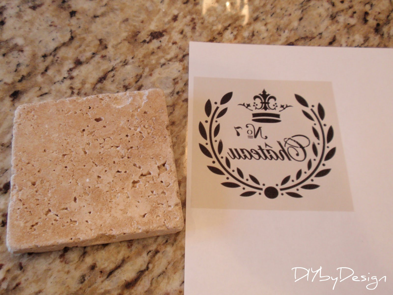 tumbled marble coasters tutorial