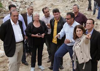 Marilene Ramos,Pezão e Arlei conferem a continuidade das obras de contenção de inundação em andamento em Campo Grande