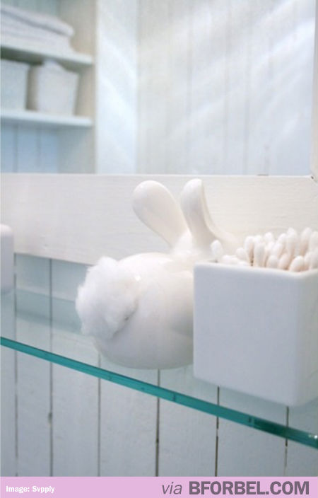 Bunny Butt Cotton Dispenser