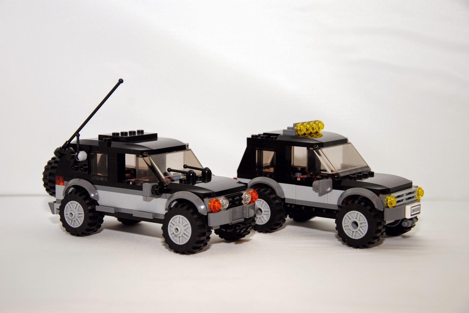 Modelo 4x4 del LBI junto al 4x4 del set 60058.