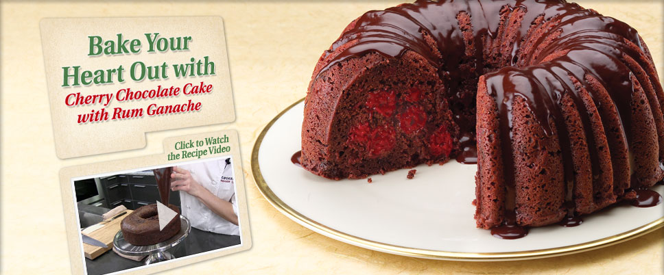Karen B's Cooking Made Easy!: Chocolate Cherry Cake with Rum Ganache
