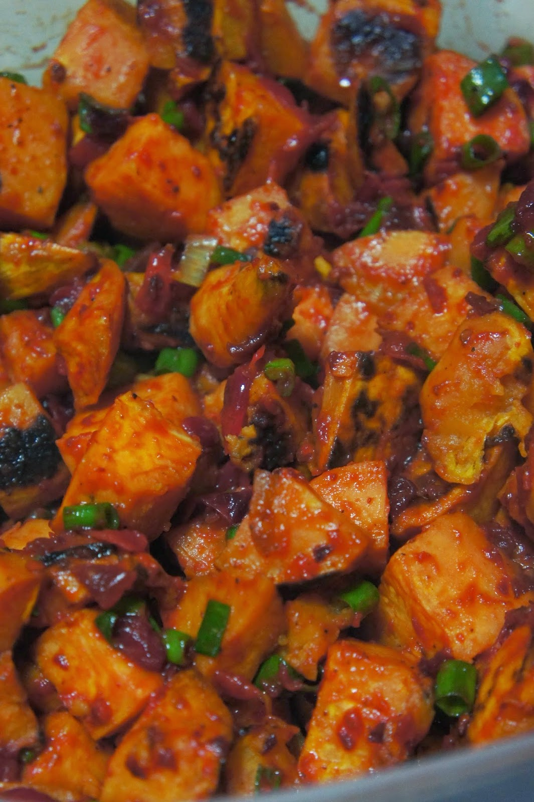 Chipotle Cranberry Sweet Potato Salad: Savory Sweet and Satisfying