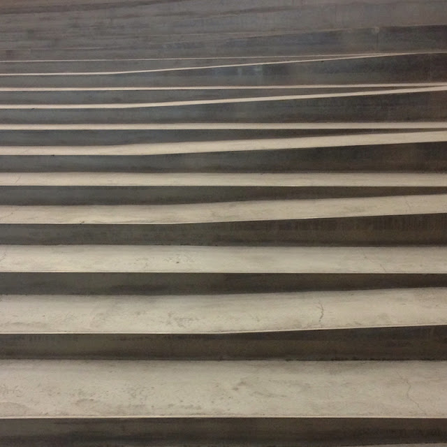 Concrete steps mimicking waves at the Maritime Museum of Denmark by Bjarke Ingels Group