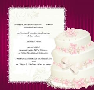 Invitation mariage texte original