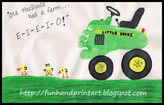 Footprint Tractor &amp; Thumbprint Baby Chicks