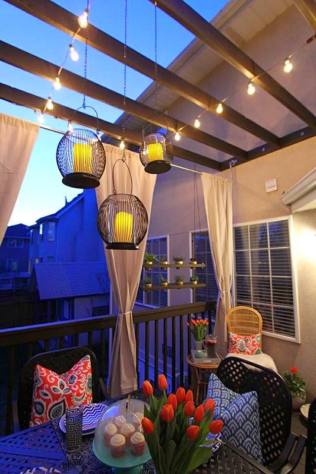 ideias jardim varanda: Minha Casa Clean: 14 Lindas Ideias de Varandas Pequenas com Jardim