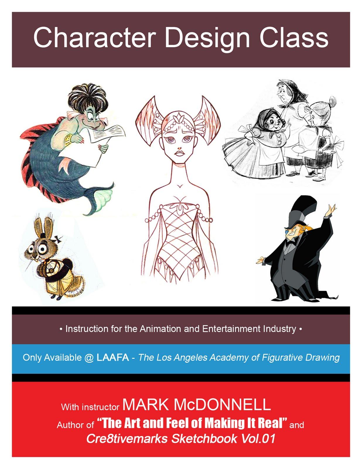 Character Design Class : Mark mcdonnell new character design class laafa