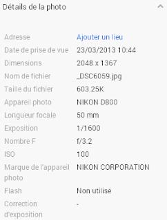 Exif - Google+ - simple
