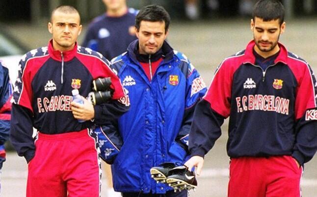 Luis Enrique, Jose Mourinho y Josep Guardiola en el FC Barcelona | Ximinia