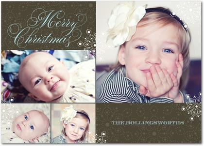Christmas Card with three portraits