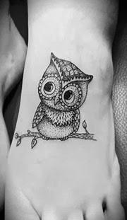 Melhores tatuagens de coruja no pé