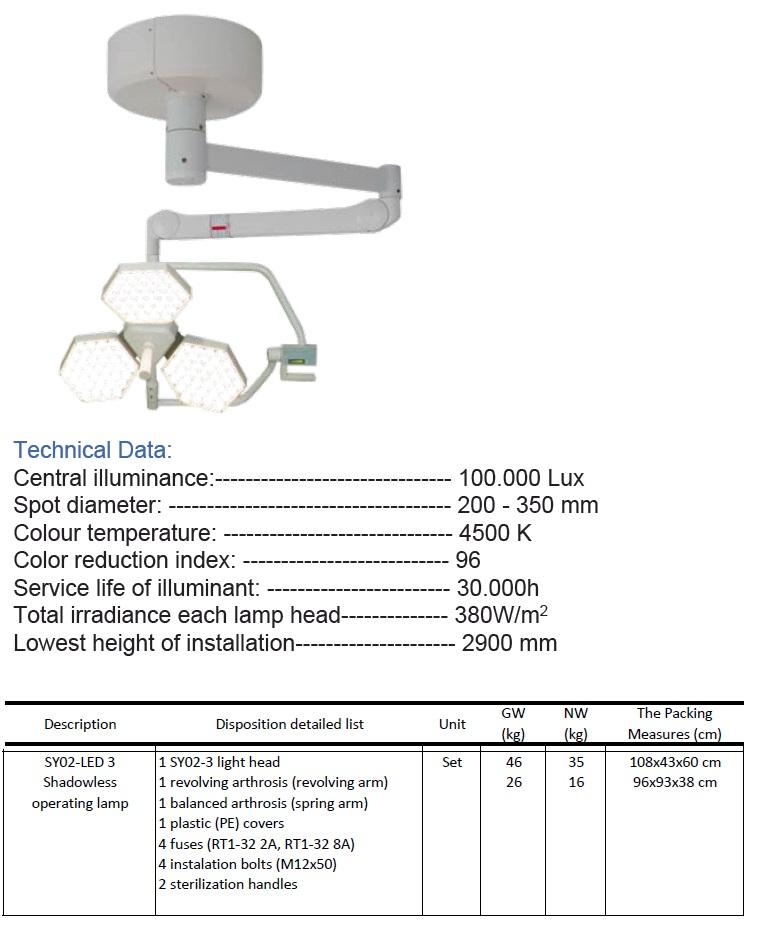 Led Ceiling Operating Light SY02-LED 3