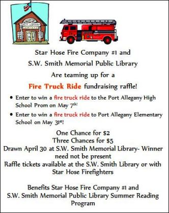 4-30 Fire Truck Ride S.W. Smith Library