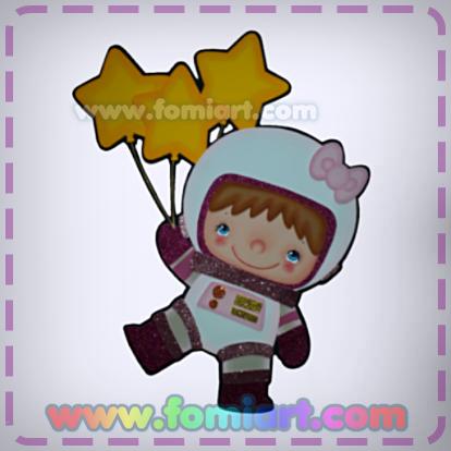 Moldes Gratis Niña Astronauta