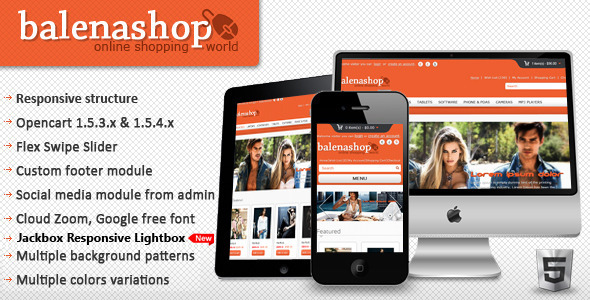 ThemeForest - Balenashop – HTML 5 Open Cart Theme