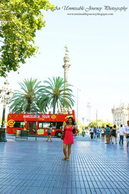 Travel Photos Marjolyn Lago is enjoying her time in La Rambla Barcelona Spain