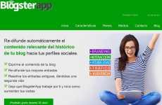 BlogsterApp: permite enviar el contenido de un blog en Blogger o Wordpress a Facebook, Twitter y Linkedin