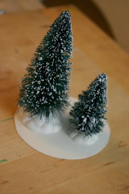 Enfeite de Natal- Candelabro de Neve