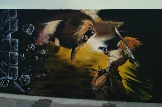 Heracles y Nemea [Mythos Street Art Series]
