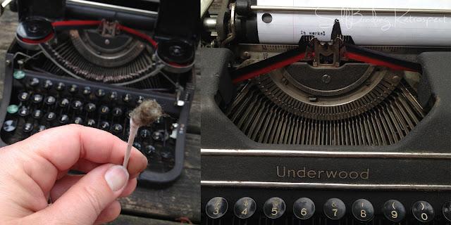underwood universal typewriter - cleaning