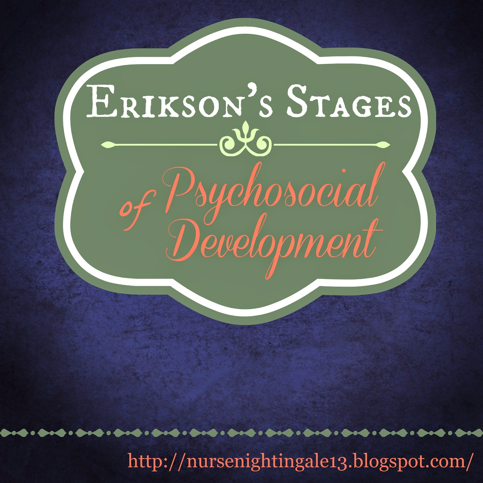eriksons stages of psychosocial development Posts about erikson's stages of psychosocial development written by girl +talk.