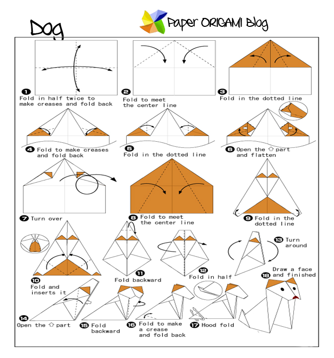 Dog Origami Paper Origami Guide