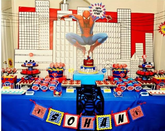 tema festa menino infantil aniversário homem aranha
