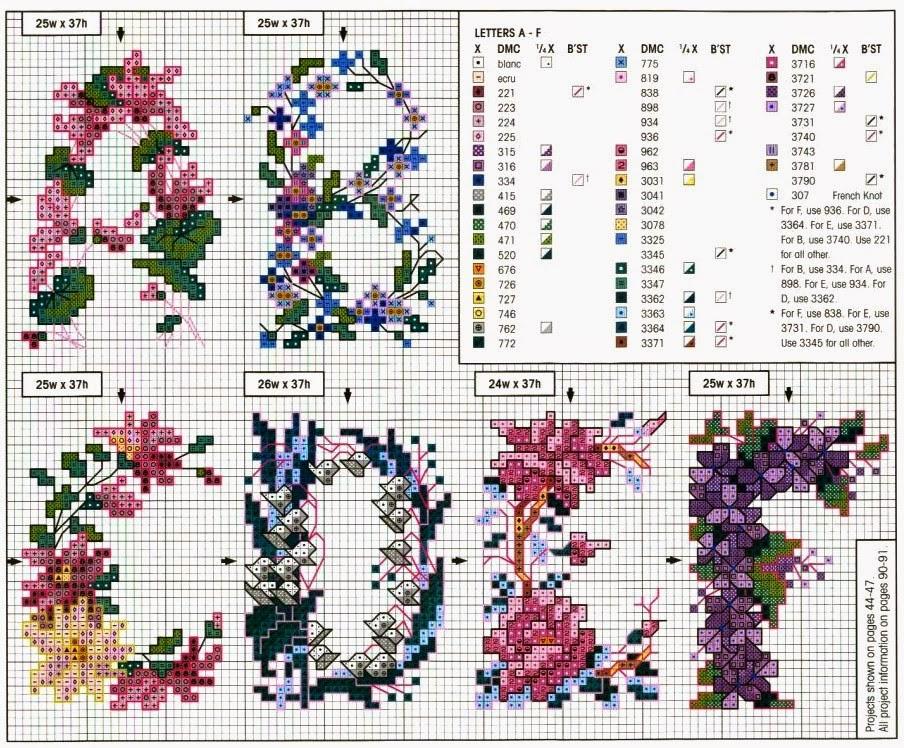 Вышивка вьющихся цветов схемы