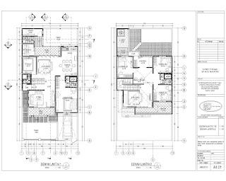 Apakah Anda ingin membangun rumah minimalis yang gres Beberapa Model Rumah Minimalis Dan Denah Yang Detail