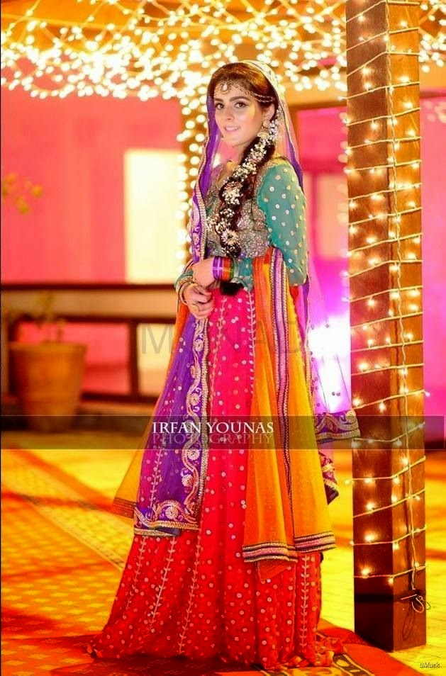 Mehndi Bridal Dress : New bridal mehndi dress just