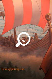 Hidden Mickey in Maelstrom, viking with Mickey ears