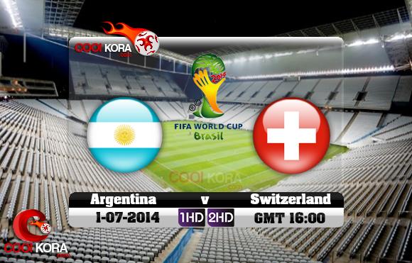 مشاهدة مباراة الأرجنتين وسويسرا بث مباشر 1-7-2014 علي بي أن سبورت كأس العالم Argentina vs Switzerland