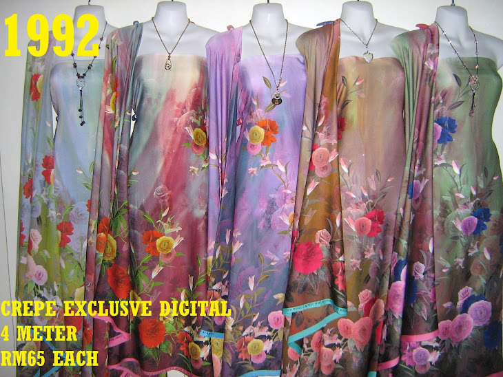 CP 1992: CREPE EXCLUSIVE DIGITAL PRINTED, 4 METER, 5 COLORS