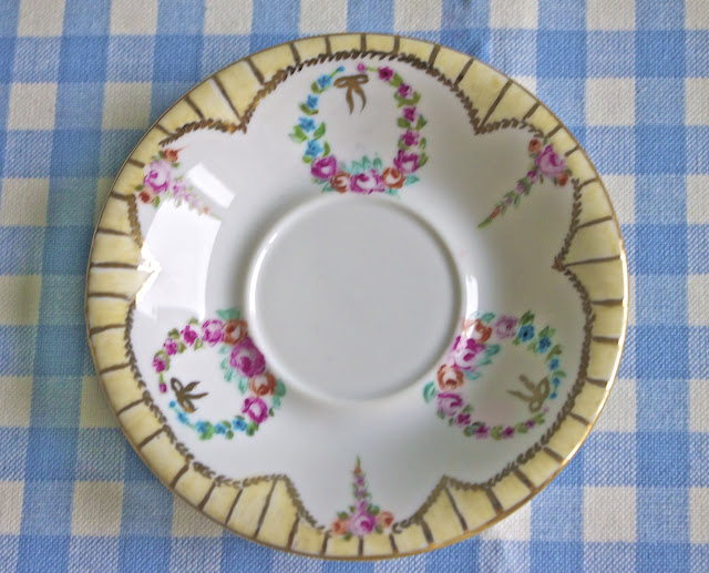 hand painted porcelain, saucer