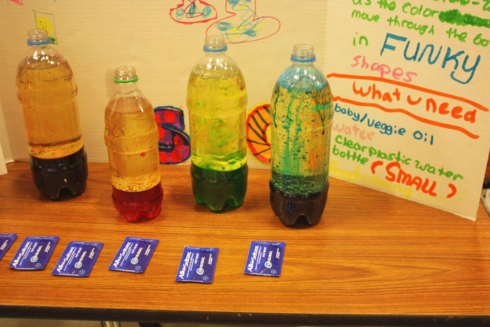 Lava lamp science project poster board