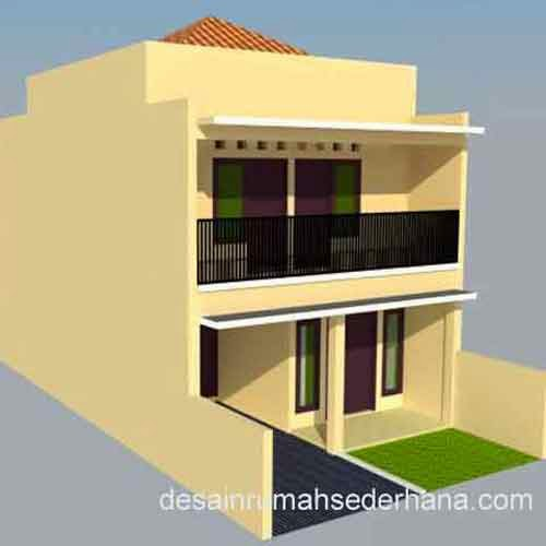 Rumah 2 Lantai 3 Kamar Tidur - Sudut kiri