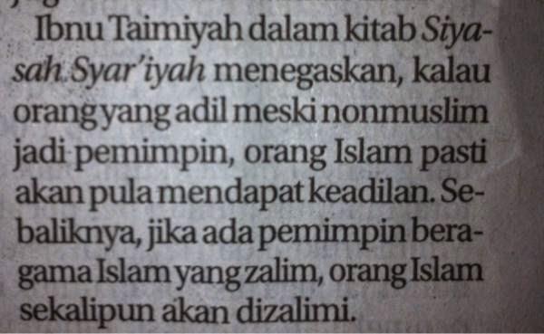 ... orang-orang muslim sendiri, dimana mayoritasnya adalah penganut Agama