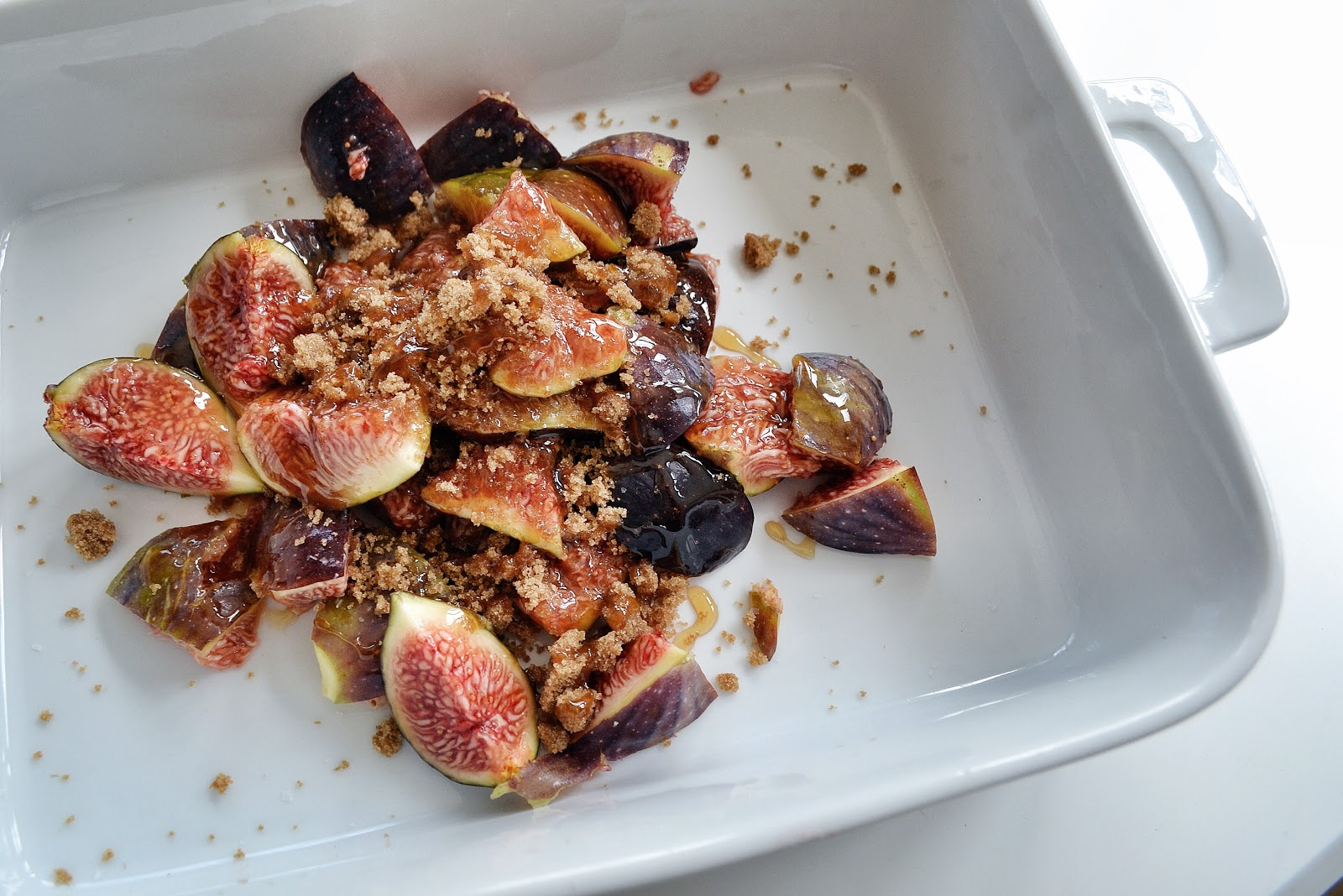 Honey Roasted Figs with Brown Sugar