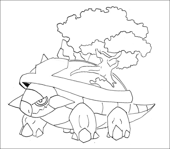 torterra pokemon coloring pages - photo#7