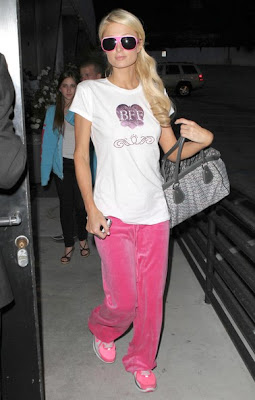 paris hilton in sweat pants