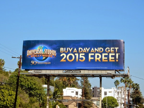 Universal Studios Hollywood 2015 free billboard