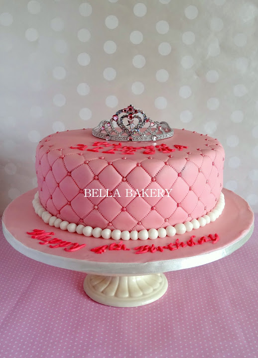 Quilted Design Princess Tiara Cake