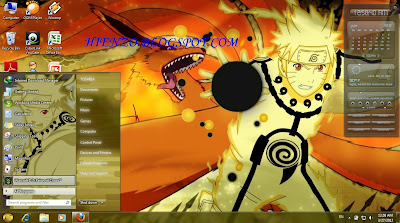 Download Tema Naruto Kyuubi Untuk Windows XP