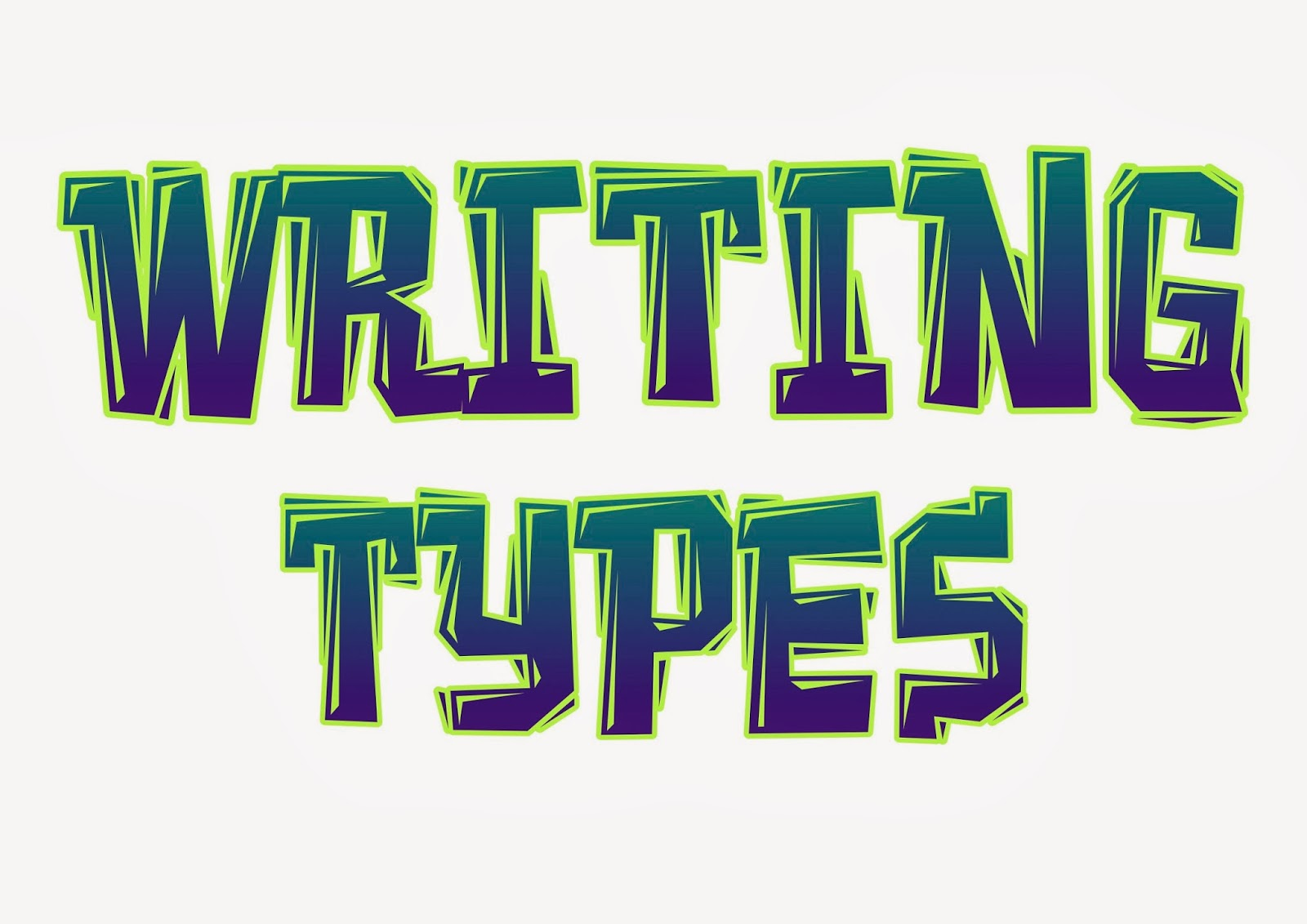 types of styles of writing Major forms of writing narrative the purpose of a narrative is to entertain the purpose of this type of text is to explain, instruct and provide facts.